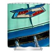 1954 Chevrolet Belair Emblem Shower Curtain