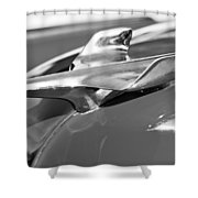 1954 Chevrolet Belair Hood Ornament Shower Curtain
