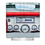 1954 Chevrolet Corvette Dashboard Shower Curtain