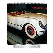 1954 Chevrolet Corvette Convertible Shower Curtain