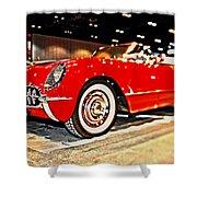 1954 Chevrolet Corvette Number 2 Shower Curtain