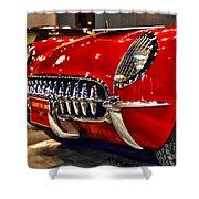 1954 Chevrolet Corvette Number 3 Shower Curtain