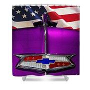 1954 Chevrolet Hood Emblem Shower Curtain