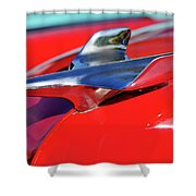 1954 Chevrolet Hood Ornament 3 Shower Curtain