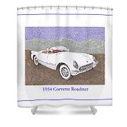 1954 Corvette Roadster Shower Curtain