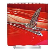 1954 Ford Cresline Sunliner Hood Ornament 2 Shower Curtain