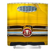 1954 Hudson Grille Emblem Shower Curtain