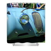 1954 Jaguar Xk Shower Curtain