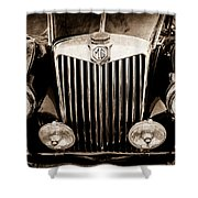 1954 Mg Tf Grille Emblem -0165s Shower Curtain
