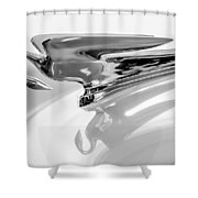 1954 Packard Cavalier Hood Ornament 3 Shower Curtain