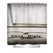 1955 Alfa Romeo 1900 Css Ghia Aigle Cabriolet Grille Emblem - Super Sprint Emblem -2266ac Shower Curtain