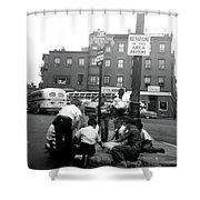 1955 Boys Of The North End Boston Shower Curtain