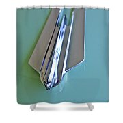 1955 Cadillac Fleetwood Sedan Hood Ornament Shower Curtain