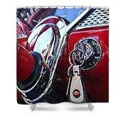 1955 Chevrolet 210 Key Ring Shower Curtain