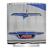 1955 Chevrolet 3100 Hood Ornament Shower Curtain