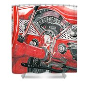 1955 Chevrolet Bel Air Shower Curtain