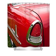 1955 Chevrolet Bel Air Tail Light Shower Curtain