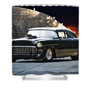 1955 Chevrolet Coupe 'sinister Chevy' Shower Curtain