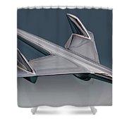 1955 Chevrolet Hood Ornament Shower Curtain