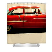1955 Chevy Shower Curtain by Tom Zukauskas