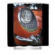 1955 Corvette Headlight Detail Shower Curtain