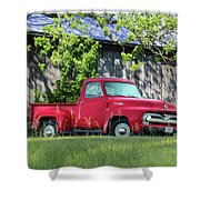 1955 Ford F100 Truck Shower Curtain