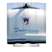 1955 Ford Fairland Hood Ornament Shower Curtain