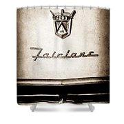1955 Ford Fairlane Crown Victoria Emblem -1713s Shower Curtain
