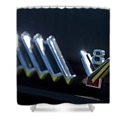 1955 Ford Thunderbird Emblem Shower Curtain