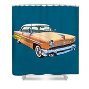 1955 Lincoln Capri Fine Art Illustration  Shower Curtain