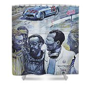 1955 Mercedes Benz 300 Slr Moss Jenkinson Winner Mille Miglia  Shower Curtain