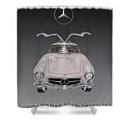 1955 Mercedes Benz Gull Wing 300 S L  Shower Curtain