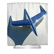1956 Mercury Hood Ornament 1 Shower Curtain