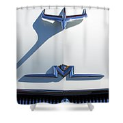 1956 Mercury Hood Ornament Shower Curtain