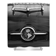 1955 Oldsmobile Holiday 88 Hood Ornament 2 Shower Curtain