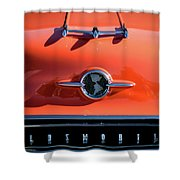 1955 Oldsmobile Rocket 88 Hood Ornament Shower Curtain