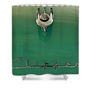 1955 Packard Clipper Hood Ornament 2 Shower Curtain