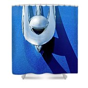 1955 Packard Clipper Hood Ornament 4 Shower Curtain