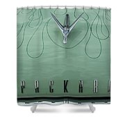 1955 Packard Hood Ornament 2 Shower Curtain