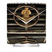 1955 Packard Hood Ornament Emblem Shower Curtain