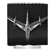 1955 Pontiac Safari Hood Ornament 3 Shower Curtain