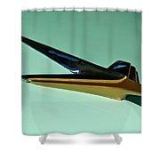 1955 Studebaker Hood Ornament Shower Curtain