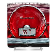 1955 Thunderbird Shower Curtain