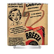 1955 Vintage Washing Powder Advert Shower Curtain