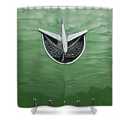 1956 Buick Hood Ornament Shower Curtain