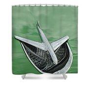1956 Buick Riviera Hood Ornament Shower Curtain