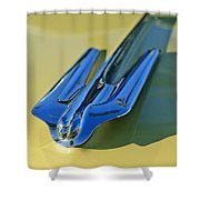 1956 Cadillac Hood Ornament Shower Curtain