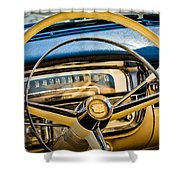 1956 Cadillac Steering Wheel Shower Curtain