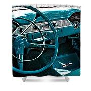 1956 Chevrolet Belair Interior Hdr No 1 Shower Curtain