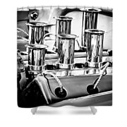 1956 Chrysler Hot Rod Engine Shower Curtain